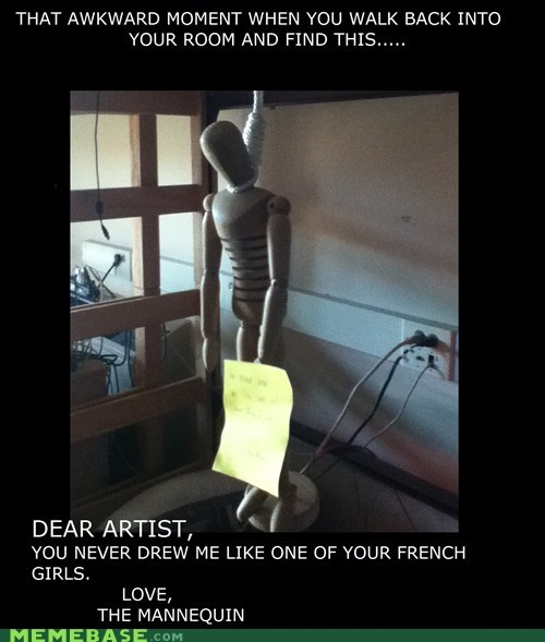 artist,hanging,mannequin,one of your french girls