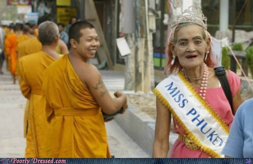 Miss Phuket,monk,monks,phuket,thailand