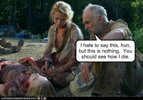 andrea,dale,die,Jeffrey DeMunn,laurie holden,The Walking Dead,zombie