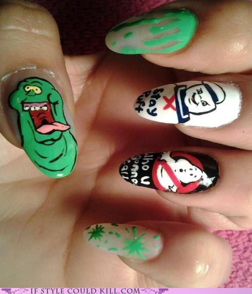 cool accessories,Ghostbusters,movies,nail art,nails