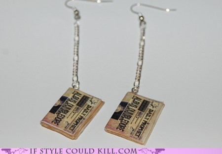 best of the week,cool accessories,daily prophet,earrings,Harry Potter