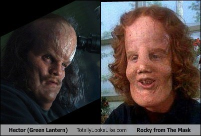 Hector (Green Lantern) Totally Looks Like Rocky from The Mask