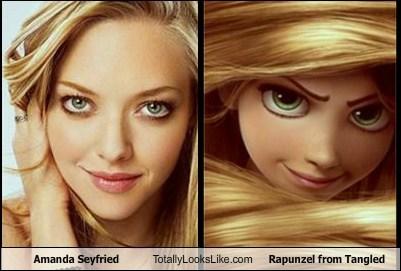 Amanda Seyfried Totally Looks Like Rapunzel from Tangled