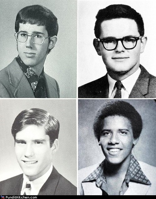 barack obama,election 2012,high school,Mitt Romney,newt gingrich,political pictures,Rick Santorum,yearbook
