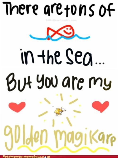 dating,fish in the sea,love,magikarp,Pokémemes,shiny,the internets