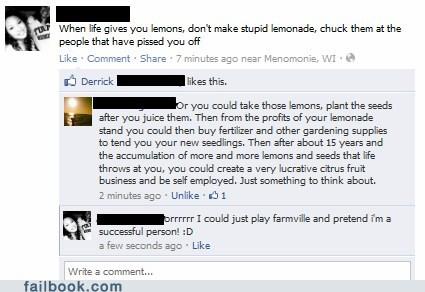 Farmville,lemons,metaphor,touché