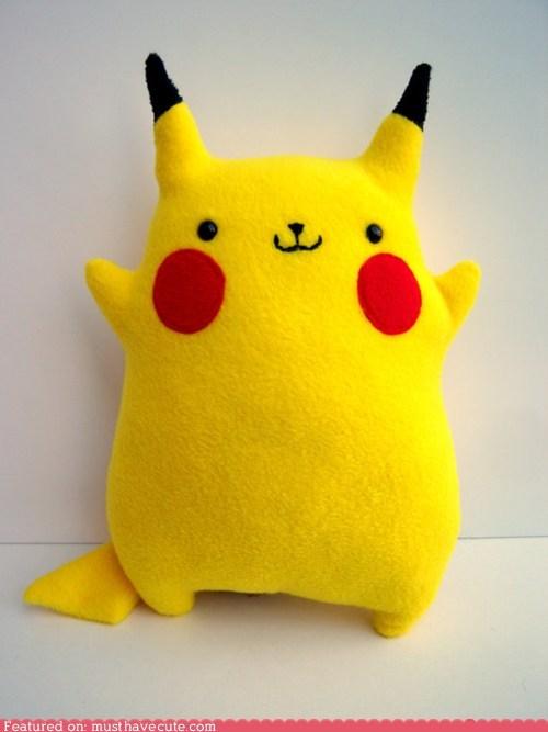 hug,pikachu,Plush,soft,yellow