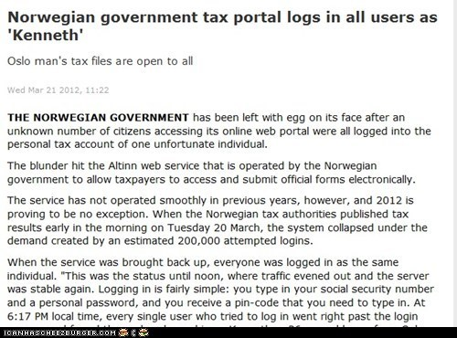 Norwegian tax system fail! Thanks to User Norwegian!