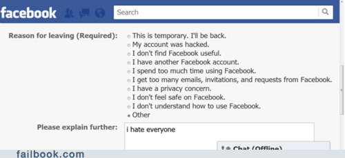 Failbook: The #1 Reason to Delete Your Account