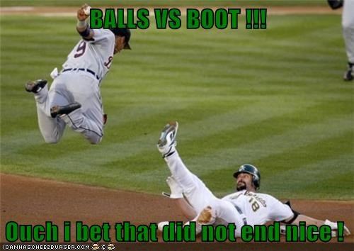 BALLS VS BOOT !!!  Ouch i bet that did not end nice !