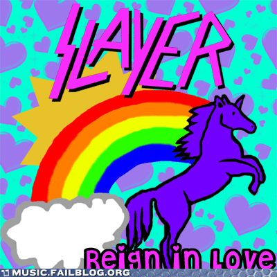 metal,rainbows,reign in blood,slayer,unicorns