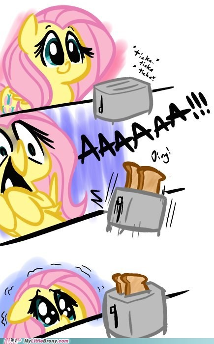 comic,comics,fluttershy,iron will,scary,toast