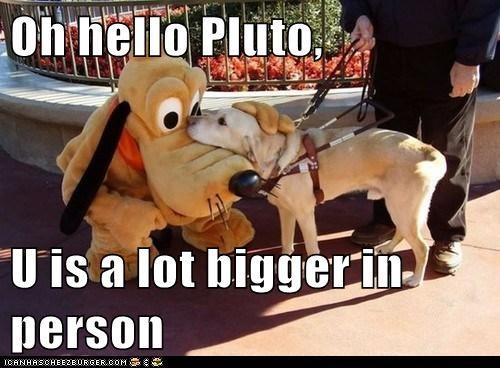 Oh hello Pluto,  U is a lot bigger in person