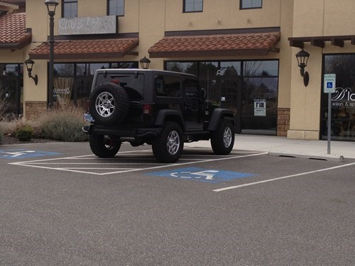 Technically Not in a Handicapped Spot FAIL