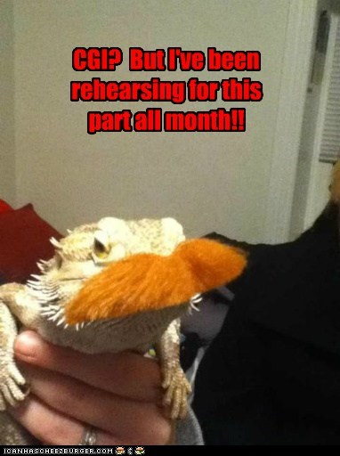 There There, Lizard Lorax. Maybe You'll be in the Sequel?