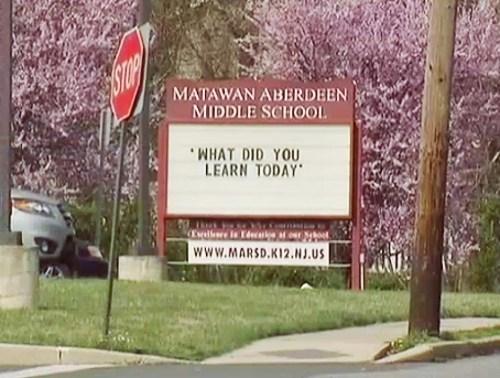 Matawan-Aberdeen Middle School,New Jersey,No Hugging Allowed