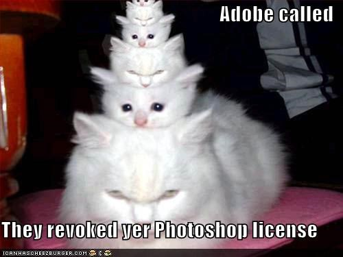 Adobe called  They revoked yer Photoshop license