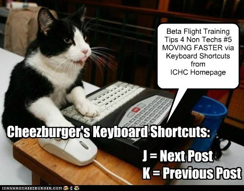 Beta Flight Training: Tips 4 Non Techs FAZTER MOVIN Keyboard Shortcuts from ICHC HomePage