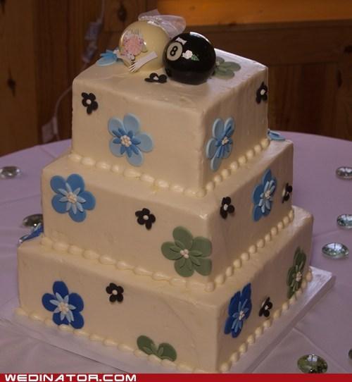 cakes,eight ball,funny wedding photos,pool