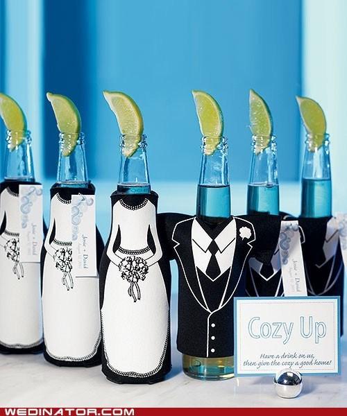 beer,corono,favors,funny wedding photos
