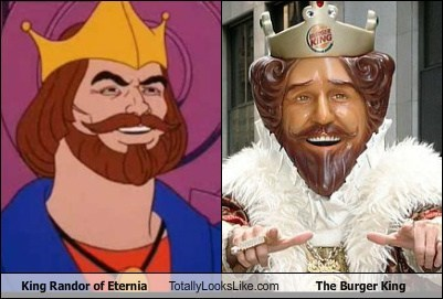 King Randor of Eternia Totally Looks Like The Burger King