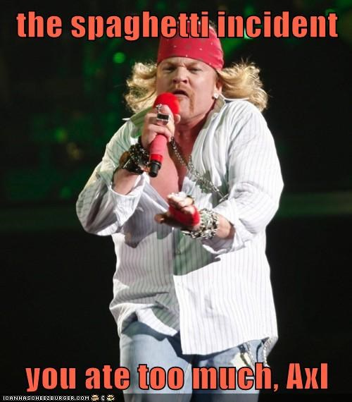 the spaghetti incident  you ate too much, Axl