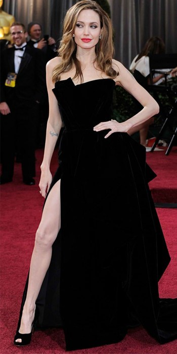 Angelina Talks Leg Fame of the Day