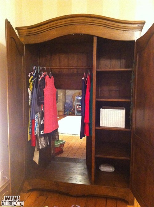 Wardrobe to Narnia WIN