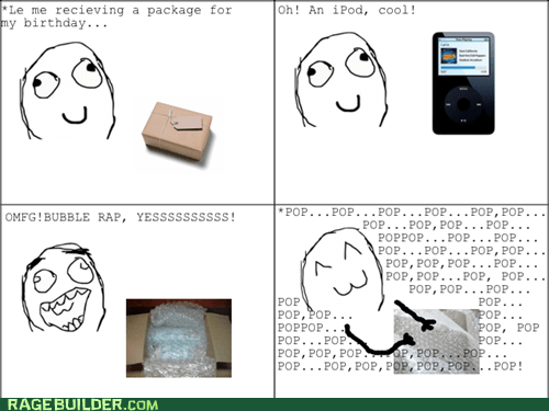 bubble wrap,package,Rage Comics,typo