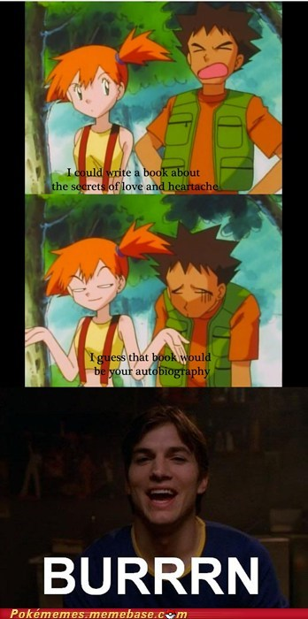 anime,brock,burn,drying pan,frying pan,misty,tv-movies