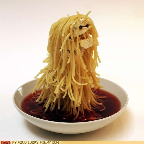 hair,sauce,sculpture,spaghetti,tofu,yeti