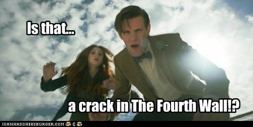 amy pond,crack in the wall,doctor who,fourth wall,karen gillan,Matt Smith,the doctor