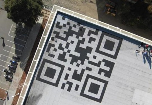 Giant Facebook QR Code of the Day