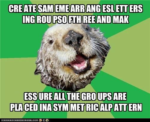 CRE ATE SAM EME ARR ANG ESL ETT ERS ING ROU PSO FTH REE AND MAK