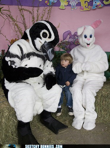 Sketchy Bunnies: The Penguin Is Just A Distraction, Son. Never Take Your Eyes Off the Bunny!