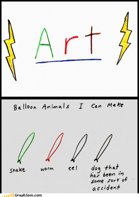 art,balloon animals,demetri martin