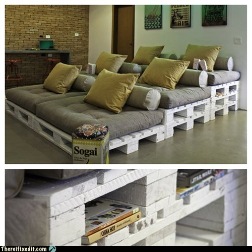 There I Fixed It: Pallet Board Movie Seating