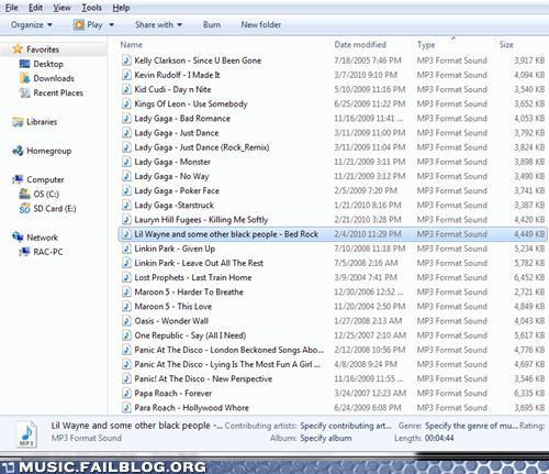 black,hip hop,iTunes,playlist,racist,rap