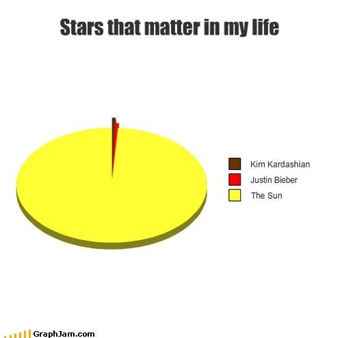 celeb,kim karadashian,Pie Chart,stars,the biebs,The Sun