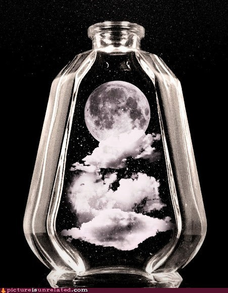 bottle,moon,night,stars,wtf