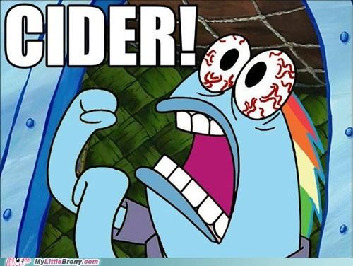 cider,crossover,rainbow dash,SpongeBob SquarePants