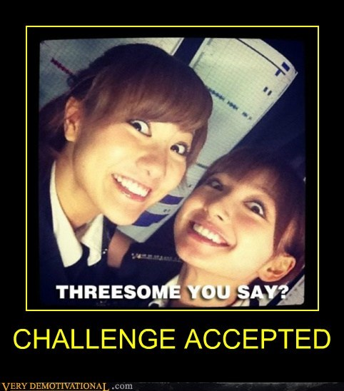 asians,Challenge Accepted,hilarious,Sexy Ladies,threesome