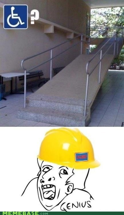 genius,handicap,Rage Comics,ramp-construction-worker