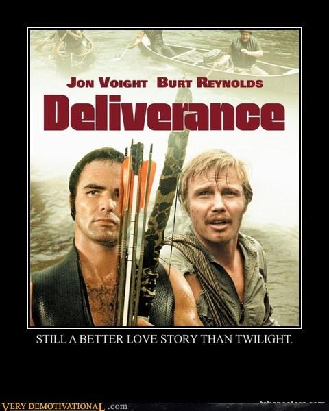deliverance,hilarious,love story,twilight