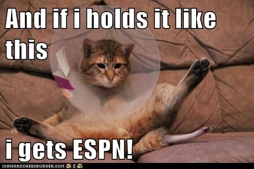 And if i holds it like this  i gets ESPN!