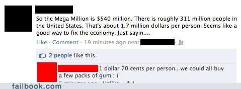 If Only His Math Were Correct