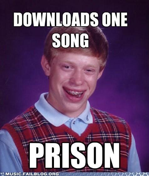 bad luck brian,jail,meme,piracy,prison