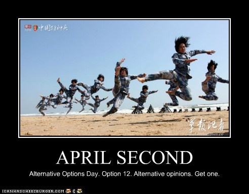 APRIL SECOND