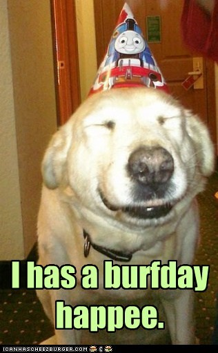 Burfday Happee to Me! Burfday Happee to Me!