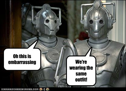 Awkward,cybermen,doctor who,embarrassing,outfit,same
